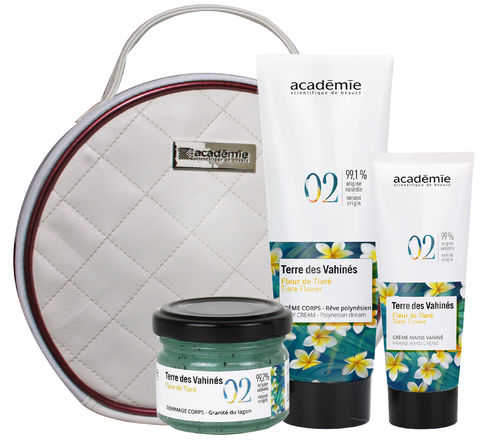 Academie Coffret Spa Vahinés (Scrub + Bodycream + Handcreme)